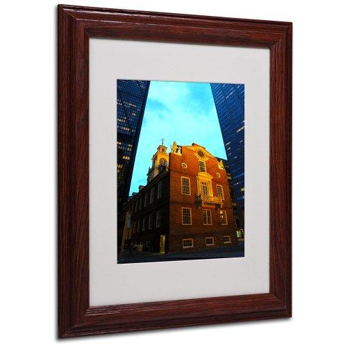 Boston Canvas Wall Art by CATeyes, Wood Frame, 11 by 14-Inch by Trademark Fine Art