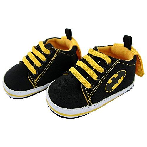 DC Comics Baby Boys Justice League Character Infant Shoes, Batman Sneakers w/Cape, 9-12 Months