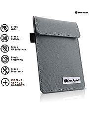 Silent Pocket Signal Blocking Faraday Key Fob Case - Car Anti Theft Device Shielding Against All Signal Types, Including RFID Blocking & Durable Faraday Bag, Fits Most Car Keyfobs (Charcoal Grey)