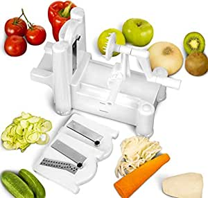 Annic Veggie Pasta Spaghetti Maker Tri-blade Vegetable Spiral Slicer