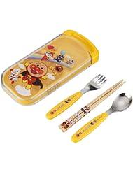 日亚:Pinocchio 面包超人餐具 儿童餐具套装 叉勺筷子 随身携带 特价749日元,约¥45