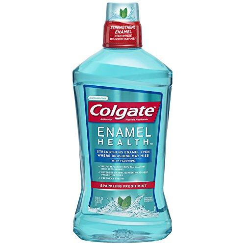 Mouthwash Flouride (Colgate Enamel Health Mouthwash with Fluoride, Fresh Mint - 1L)