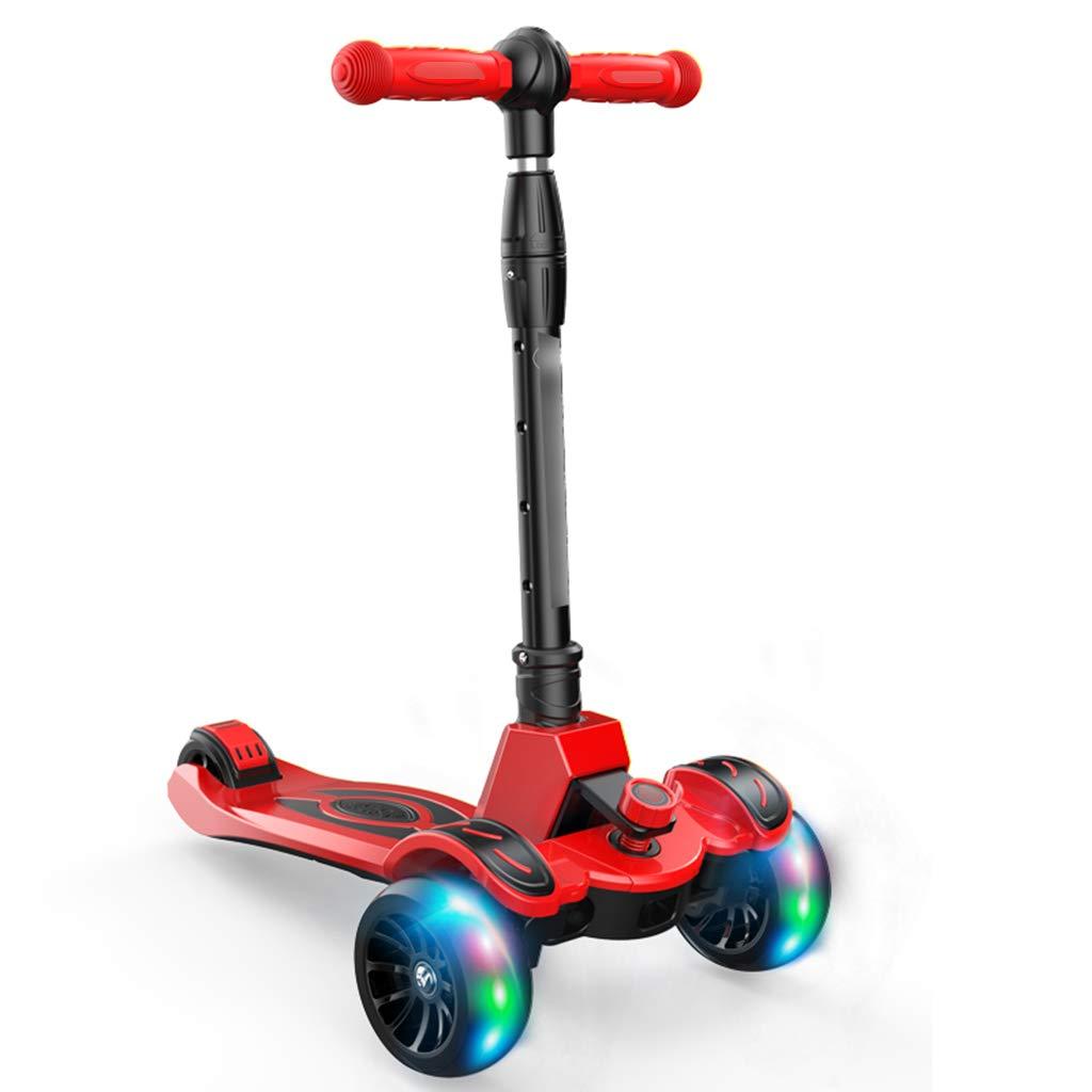 YaNanHome Roller Kinder Roller Flash vierrädrigen Roller geeignet für Kinder im Alter von 2-12 mit Multi-Farbe optional (Farbe   rot)B07HRFBKQ3KinderscooterRoman     | Billig