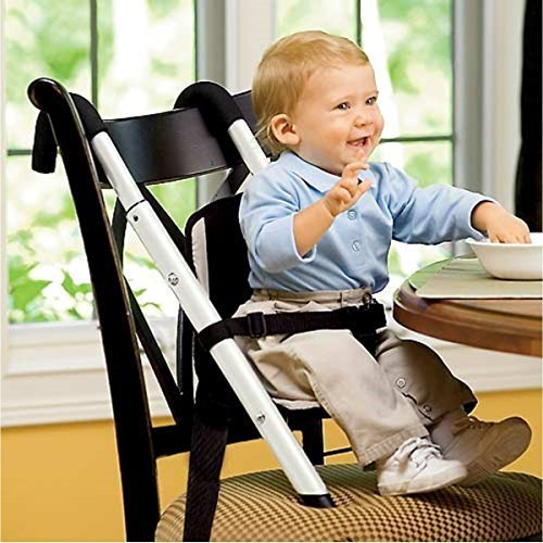 Beanstalk Child Care Booster Seat High Chair, Fully Adjustable and Portable, Perfect for Home or Travel, Extremely Safe/Convenient