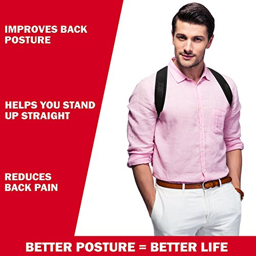 Posture Corrector for Men and Women - Comfortable Upper Back Brace Clavicle Support Device for Thoracic Kyphosis and Shoulder - Neck Pain Relief - FDA APPROVED - by VIBO Care (Image #2)