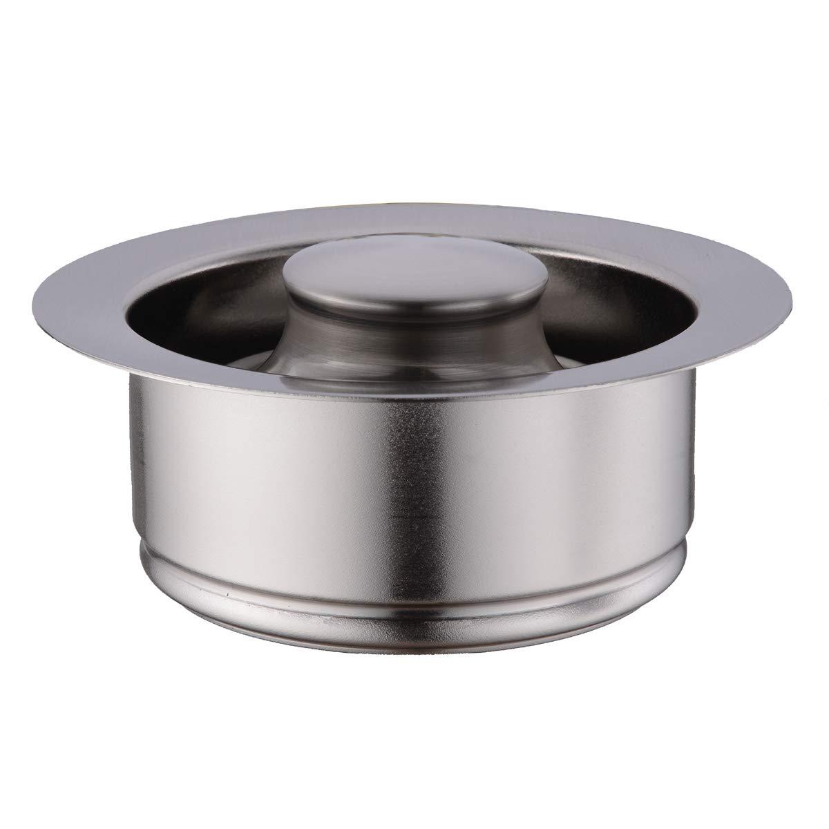 BESTILL Brass Kitchen Sink Flange Kit for 3-Bolt Mounted Garbage Disposal,Brushed Nickel