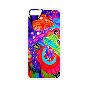 Protective Crazy Trippy Customize Back Case Cover TPU For iphone 6 (4.7 inch)