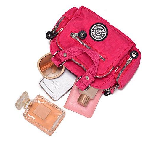 Waterproof Girls Travel Handbag Shoulder MeCooler Crossbody Sport Cross Body Purple Bag Women Nylon for Satchel Casual Side Messenger Bag Bag qTgv7g