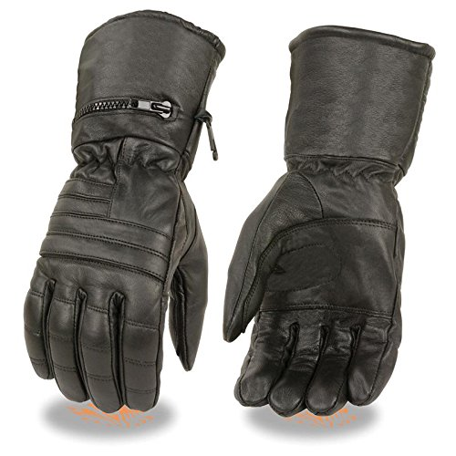 Gauntlet Gloves Leather - 8