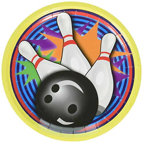 Forum Novelties Bowling Cake Plate (8 Pack) -Party Supplies (Halloween Party Games Bowling)