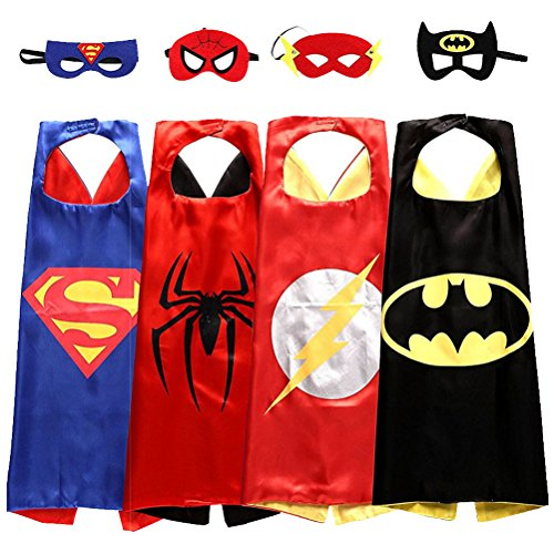 Costume For Kids Halloween (SPESS Costumes Toddlers 4Pcs Capes and Masks costumes for kids)