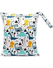 FenFang Tygblöjor våtväskor, blöjväska wetbags blöjväska våtväska våtväska organiserväskor stor återanvändbar vattentät med dragkedja för spädbarn resor på språng