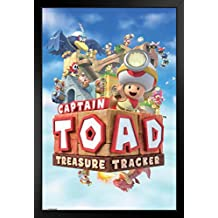 ProFrames Captain Toad Treasure Tracker Framed Poster 12x18