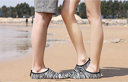 Deesee (tm) Dames Heren Sneldrogend Watersokken Zwemmen Surf Yoga Skin Sportschoenen Zwart