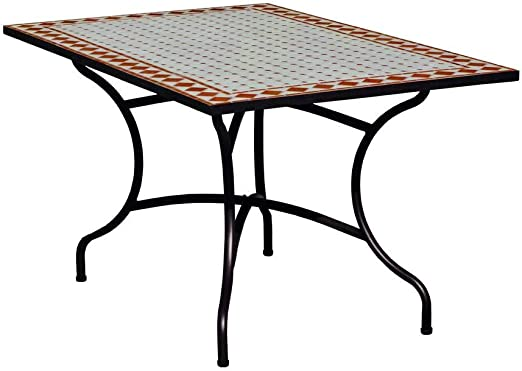 Hevea Table Mosaique Atrium150 Rectangulaire 150x90 Cm Amazon Fr