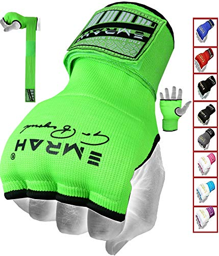 EMRAH PRO Training Boxing Inner Gloves Hand Wraps MMA Wraps Mitts - X (Green, - Mitts Inner
