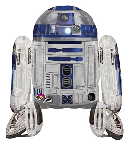 Star Wars Shaped Balloon - Anagram International Star Wars R2D2 Air Walker, Multi-Color