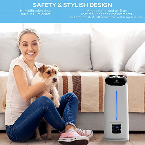 Cool Mist Humidifier - Air Humidifier - Humidifiers for Bedroom - Baby Vaporizer Room Humidifier - Home Top Fill Filterless Ultrasonic Humidifiers for Babies Kids - Air Mist 6l Large Room Humidifier by DIVERSO DEVICES (Image #7)