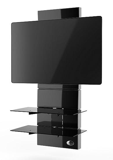 Supporto Tv Design.Meliconi Ghost Design 3000 Supporto Per Tv Da 32 A 63 Con Mensole In Vetro Temperato Nero