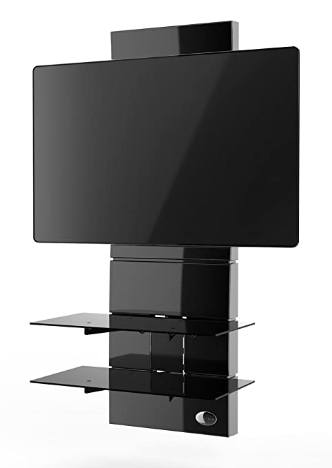 Porta Tv Meliconi.Meliconi Ghost Design 3000 Supporto Per Tv Da 32 A 63 Con Mensole In Vetro Temperato Nero