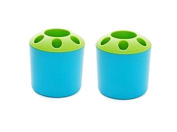 Yosoo moda Lovely pareja poroso cepillo de dientes pasta de dientes titular pluma contenedor para el hogar baño artículos de tocador de almacenamiento de ...
