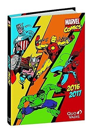 Quo Vadis Marvel Comics - Agenda escolar diaria (12 x 17 cm ...