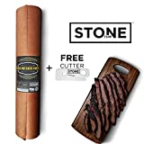 Pink Butcher Paper Roll – 18″ x 200′ | USA MADE | FDA Approved Peach Butcher Paper For Smoking BBQ Meats & Brisket in Heavy Duty Poly Bag with FREE Paper Cutter | Kraft Wrapping Paper