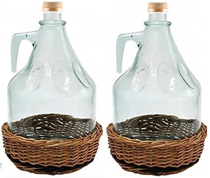 Juego de 2 Cristal Globo gärballon Botella de cristal botella de vino globo globo 3L bdw3z