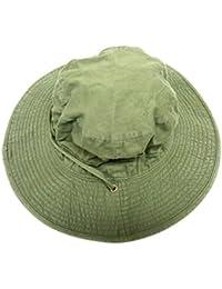 Vintage Washed 100% cotton denim bucket safari fishing boating hunting hat cap