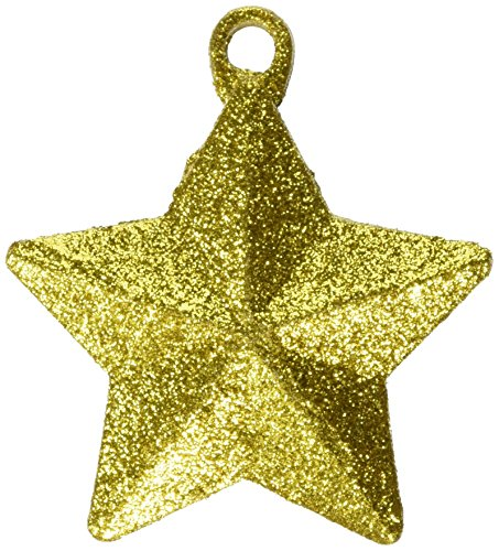 Amscan Gold Glitter Star Balloon Weight | Party Decor | 12 Ct.