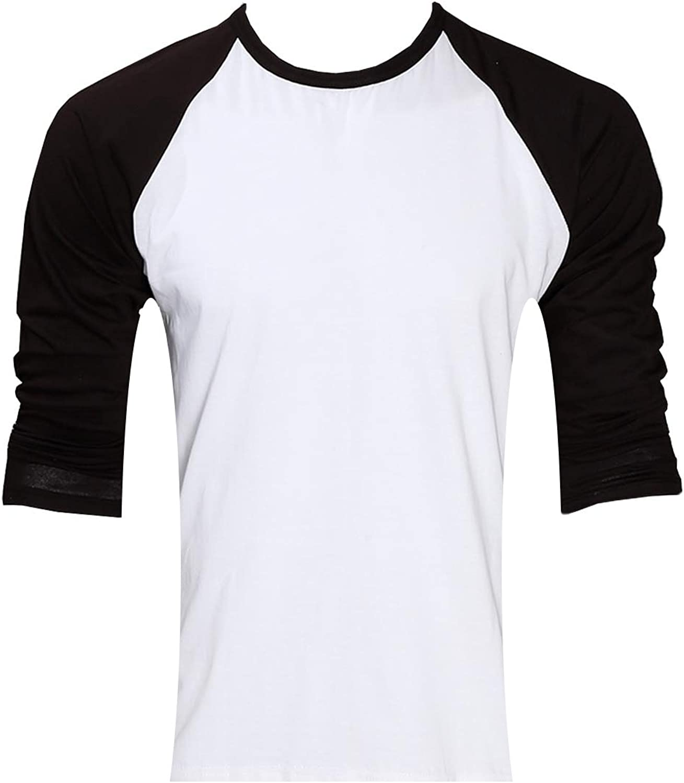 Leggera con Manica Lunga Stile Raglan Raftaar/® Maglia da Baseball Unisex 100/% Cotone Bianca