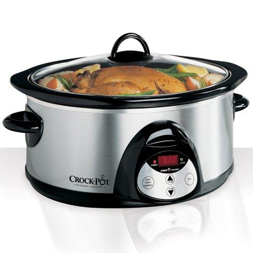 Crock-Pot SCVC609SS 6-Quart Oval Programmable Slow Cooker, Stainless Steel