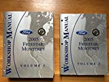2005 Ford Freestar, Mercury Monterey Workshop Manuals (2 Volume Set)