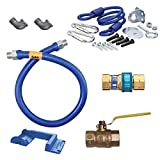 TableTop King 1675KIT36PS Deluxe SnapFast 36'' Gas Connector Kit with Safety-Set - 3/4'' Diameter