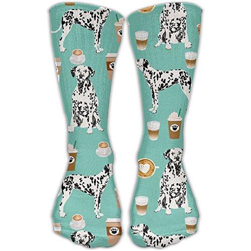 TDGEDSFD Dalmatians Cute Mint Coffee Best Dalmatian Dog Print Fashion Warm Winter Socks Cotton Crew Socks One Size For Women And Men(30cm)