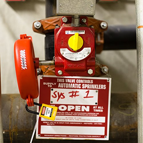 Lockout Safety Supply 7246 Gate Valve Lockout, 5'' - 6.5'' Wheel, Red by Lockout Safety Supply (Image #4)