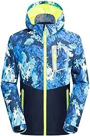 WYTbaby Kids Waterproof Rain Jacket Fleece Outerwear Hooded Lined Windbreaker Spring Fall
