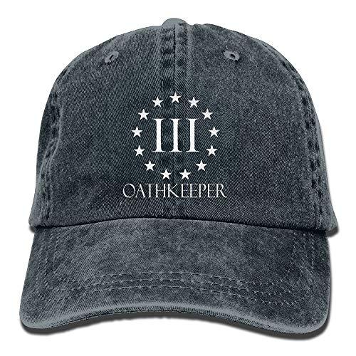 Revolution US Flag Unisex Adjustable Cotton Denim Hat Washed Retro Gym Hat Cap ()
