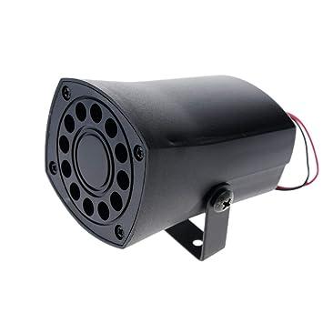 BeMatik - Sirena piezo eléctrica bitono para Alarma 12VDC ...