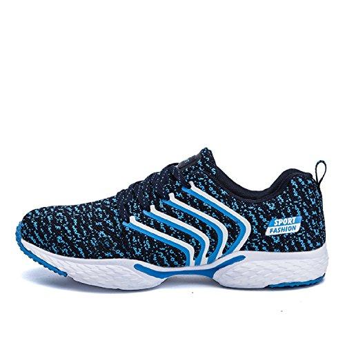 T-Gold Zapatillas de Running para Hombre Aire Libre Fitness y Deportes Zapatillas de tenis Azul