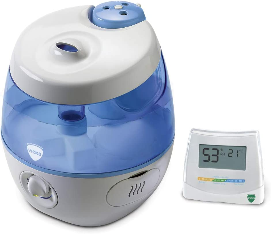 Vicks Sweet Dreams Cool Mist Humidifier with Image Projector and 2 in 1 Hygrometer and Thermometer Bundle
