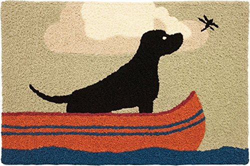 Jellybean Lab In Canoe Accent Area Rug