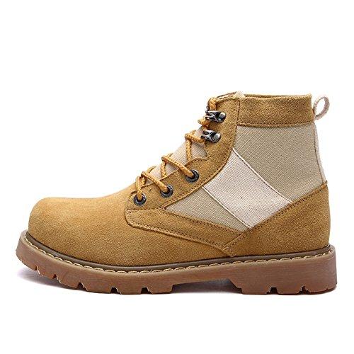Herren freizeitschuhe kleid bergsteigen herbst outdoor [leise unten] stiefel rutschen schwarzbraun-Gelb Fußlänge=44EU