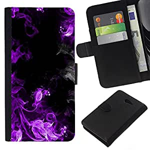 Stuss Case / Funda Carcasa PU de Cuero - Purple Smoke - Sony Xperia M2