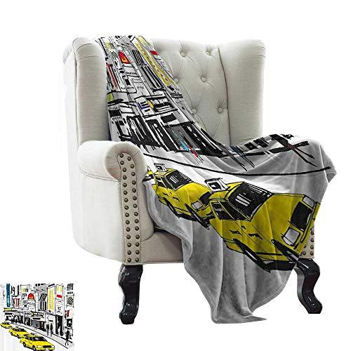 RenteriaDecor Modern,Fleece Blanket Times Square New York with