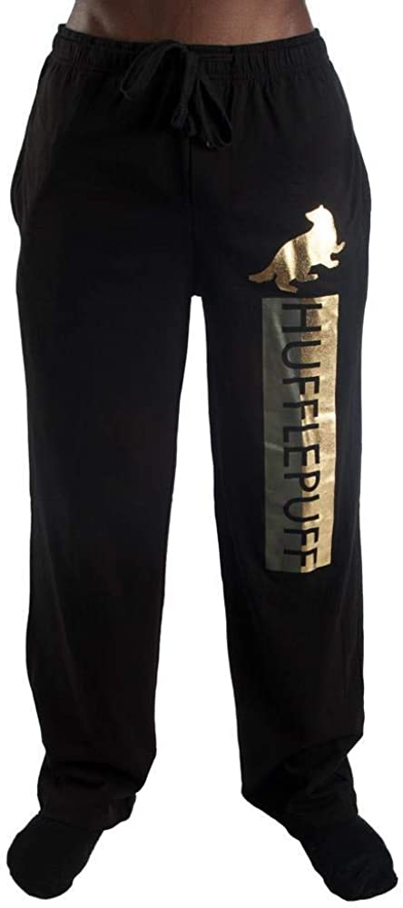 Witchcraft and Wizardry House Crests Foil Logo Guys Men's Lounge Pants Pajama Bottoms Sleep Pants PJ