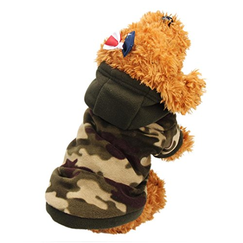 Clothes Hoodie Warm Sweater Puppy Coat Apparel (Camouflage, M) ()