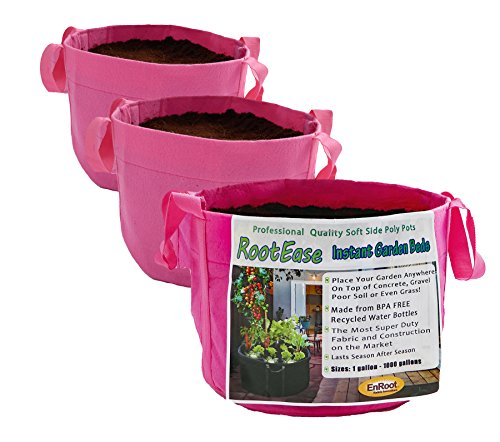 EnRoot Products RootEase 3 Pack (7 Gallon, Pink)