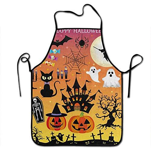 Starobkn Happy Halloween Owl Cat Kitten Bat Pumpkin