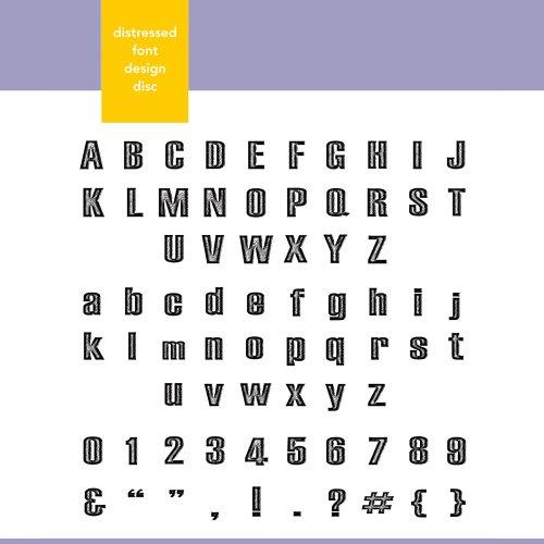 (Xyron Distressed Font Design Disc for Xyron Design Runner)